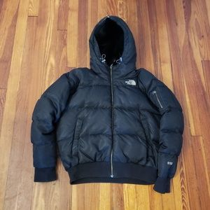 North Face Black Womens 550 Down Jacket Furry Hood